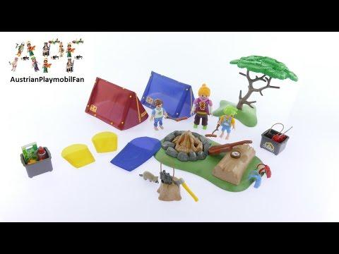 Vidéo PLAYMOBIL Summer Fun 6888 : Tentes avec enfants et animatrice