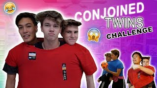 CONJOINED TWINS CHALLENGE! (with Ben Azelart)