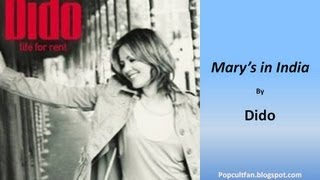 Dido - Mary's in India (Lyrics)