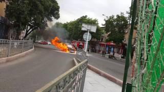 Машина сгорела пожар в Шымкенте - газовое оборудование для машины - ГБО