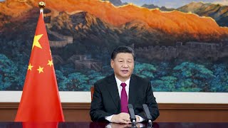Xi Jinping delivers speech at WEF Davos Agenda 2021 via video link