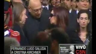 C5N ÚLTIMO ADIÓS A NÉSTOR KIRCHNER LLEGA FERNANDO LUGO