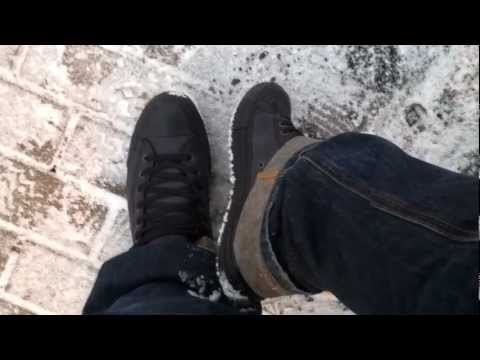 new Converse all star leather black in little snow