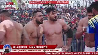 Final-Shahkot Lions VS Sarhala Rananu   Dirba (Sangrur) Kabaddi Cup 2019   LIVE KABADDI