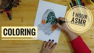 *ASMR* Coloring with felt tip pens [No talking]