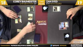 Grand Prix Miami 2015 Quarterfinals: Corey Baumeister vs. Zan Syed