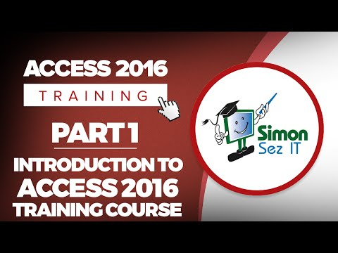 Access 2016 for Beginners Part 1: Intro to Microsoft Access 2016 ...