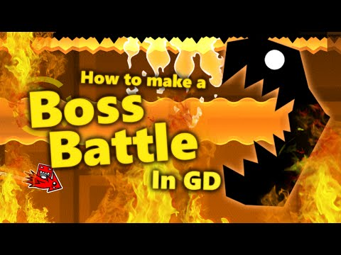 How to make a BOSS BATTLE in Geometry Dash! [Tutorial] (видео)