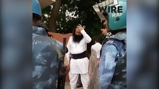 Video of Ram Rahim Singh being escorted into a make-shift jail