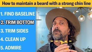 How to Get a Perfect Chin Line For Your Beard (5 Step Tutorial) | GQ