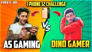 As Gaming Vs Dino Gamer | I Phone Challenge In Real Life😂| Crying Moment Who Won?- Garena Free Fire