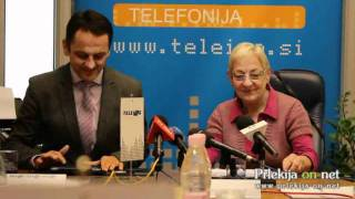 Novinarska konferenca podjetja Teleing