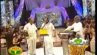 Yesudas and SPB on stage