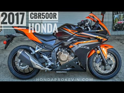 2017 Honda CBR500R Review of Specs | CBR Sport Bike / Motorcycle Walk-Around Video | Orange