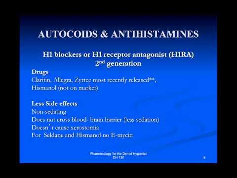 Autocoids and Antihistimines