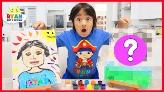 Paint Each Other Challenge Ryan vs Mommy!!!!