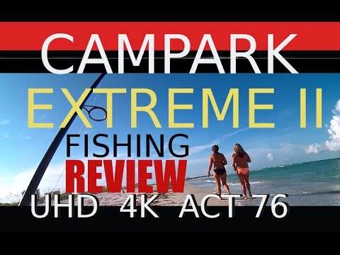 Campark  76 UHD K4 Review-Best Gopro Copy Fishing Video