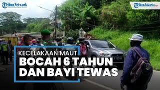 Satu Keluarga Kecelakaan Motor di Pondok Cabe, Bayi dan Bocah Laki-laki Tewas Terlindas Truk