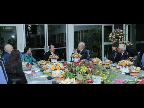 Comandante Daniel Ortega y compañera Rosario Murillo sostienen encuentro con el director de la Real Academia Española