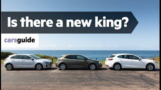 Toyota Corolla Ascent Sport vs Mazda 3 Maxx Sport vs Hyundai i30 Active 2019 comparison review