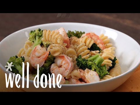 How To Make Shrimp And Broccoli Rotini: Light And Fast Dinner Recipe | Recipe | Well Done