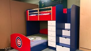 Baseball Loft Bed | Cubs Style