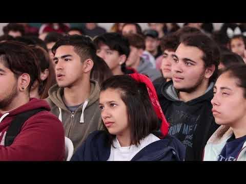 Mateo Salvatto brindó una charla a jóvenes de la ciudad