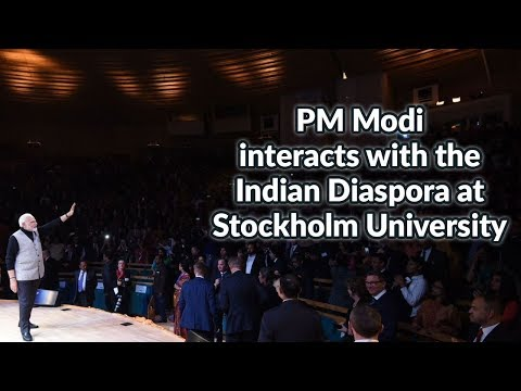PM Modi interacts with the Indian Diaspora at Stockholm University