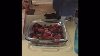 blueberry cobbler with cake mix and sprite