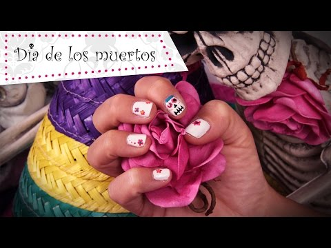 Dia de Los Muertos Nail Art tutorial voor volwassenen