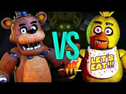ФРЕДДИ VS ЧИКА | СУПЕР РЭП БИТВА | Freddy Fazbear Five Nights At Freddy's ПРОТИВ Chica Аниматроник