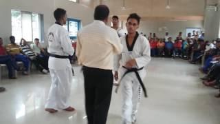 Learn kicks & 1st poomsae of Taekwondo Deeply step by step online in Hindi 2016