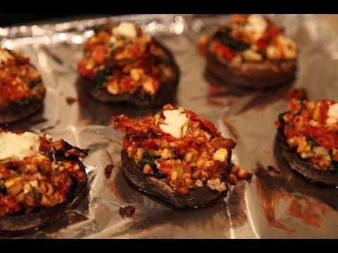 """ Stuffed Portobello Mushrooms "" Bajias Cooking"
