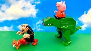 😙  Świnka Peppa i Dinozaur po Polsku 😁 Gargamel atakuje 😬 Bajka dla dzieci