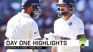 Advantage India after tough opening day | Third Domain Test