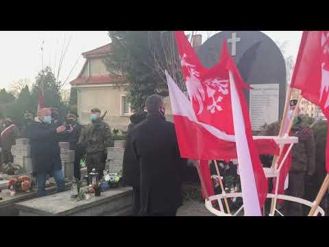 Wideo1: Skromna uroczystość w kwaterze powstańców wielkopolskich w Lesznie
