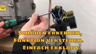 Kompressor Druckschalter Rückschlagventil tauschen /Schäden erkennen Erklärung Funktion / Einfach