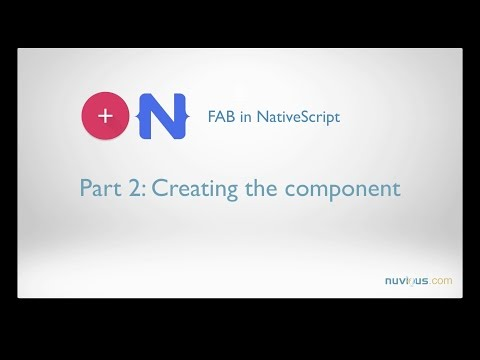 Floating Action Button in NativeScript with Angular  Part 2