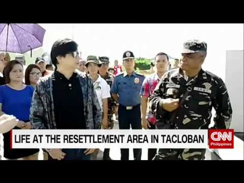 Life at the resettlement area in Tacloban