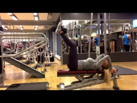 Weighted abdominal hip thrust.