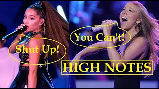 Famous People Attempting Mariah Careys HIGH NOTES!!
