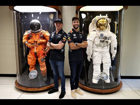 Daniel Ricciardo and Max Verstappen visit NASA