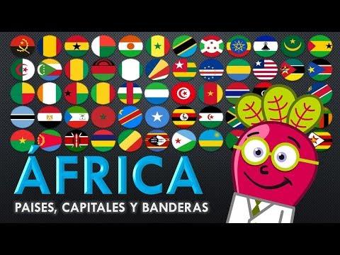 AFRICA: Paises Capitales Banderas para Niños GEO Mapas Mundo mp3