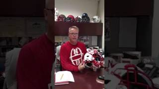 Equipment Manager describes benefit of Wegener Safety Latch for football players