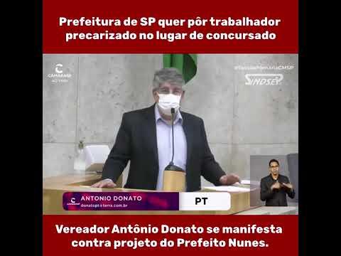 Prefeito Nunes imita Carteira Verde Amarela de Bolsonaro e propõe substituir concursados por trabalhadores precarizados