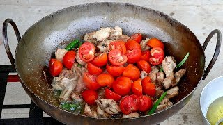 Chicken Karahi Recipe - Pakistan Karachi Street Food - Restaurant style Chicken karahi