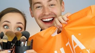 HUSBAND BUYS MY MAKEUP (AND SLAYS) | ALLIE G BEAUTY
