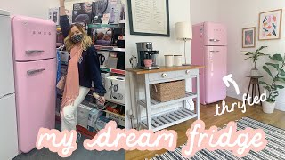 Finding my DREAM pink Smeg fridge in the charity shop