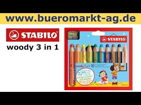 Stabilo woody 3 in 1 Multitalent 10 Buntstifte