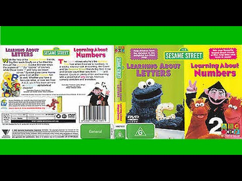 123 Sesame Street Home Video Learning About Letters/Learning About Numbers Australian DVD